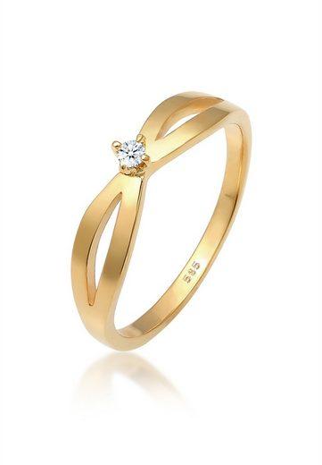 Diamore Diamantring »Verlobung Vintage Diamant (0.03 ct) 585 Gelbgold«