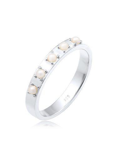 Elli Perlenring »Bandring Synthetische Perlen 925 Silber«