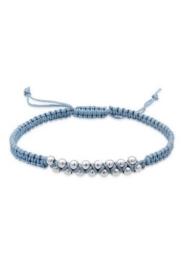 Elli Armband »Kugeln Bead Nylon Knoten Verstellbar 925 Silber«