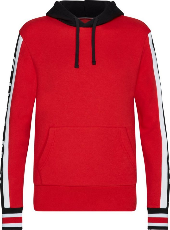 Herren Tommy Hilfiger Sweatshirt RELAXED SLEEVE BRANDED HOODY rot    08719705308633 cac2d8a8d6