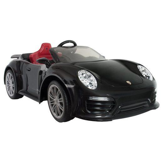 INJUSA Porsche Elektro Auto 911 Turbo S, schwarz