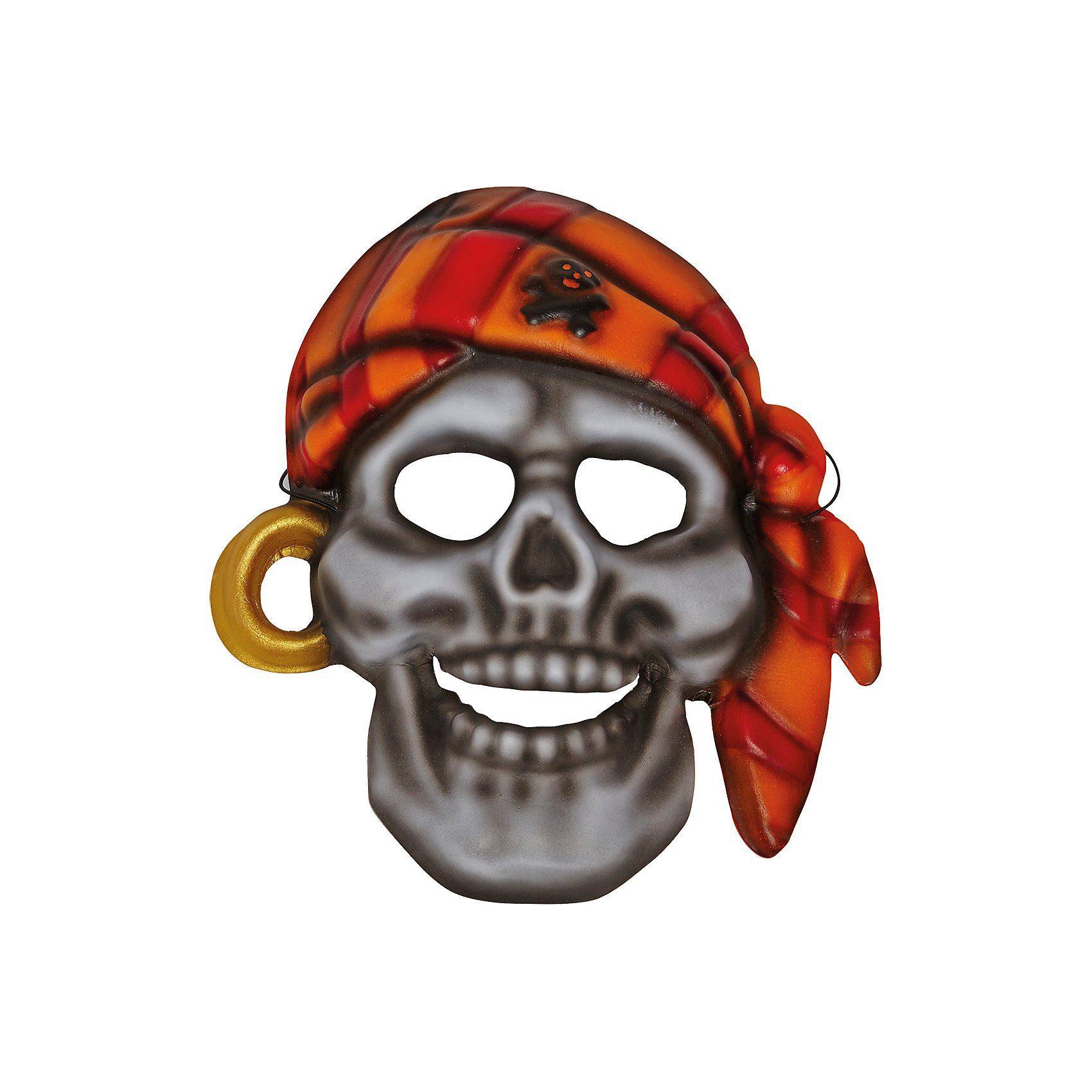 Unisex mottoland Piratenmaske  | 04003417851711