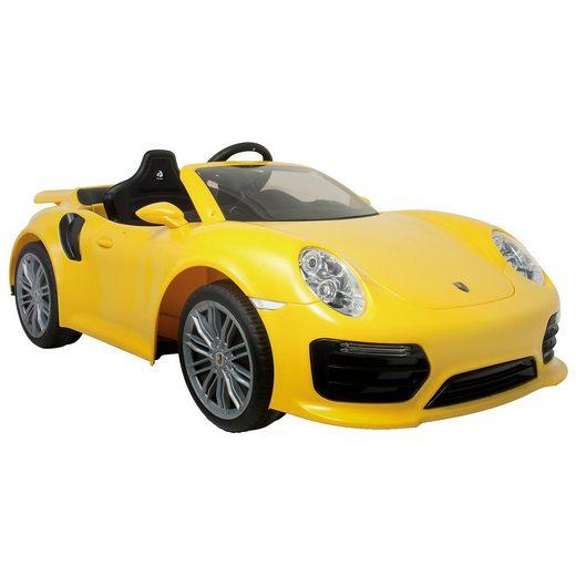 INJUSA Porsche Elektro Auto 911 Turbo S, gelb
