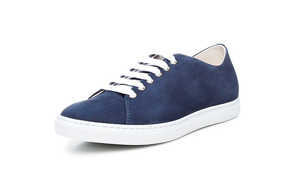 Damen SHOEPASSION No. 34 WS Sneaker Von Hand gefertigt 100 % Made in the EU blau | 04251194709088