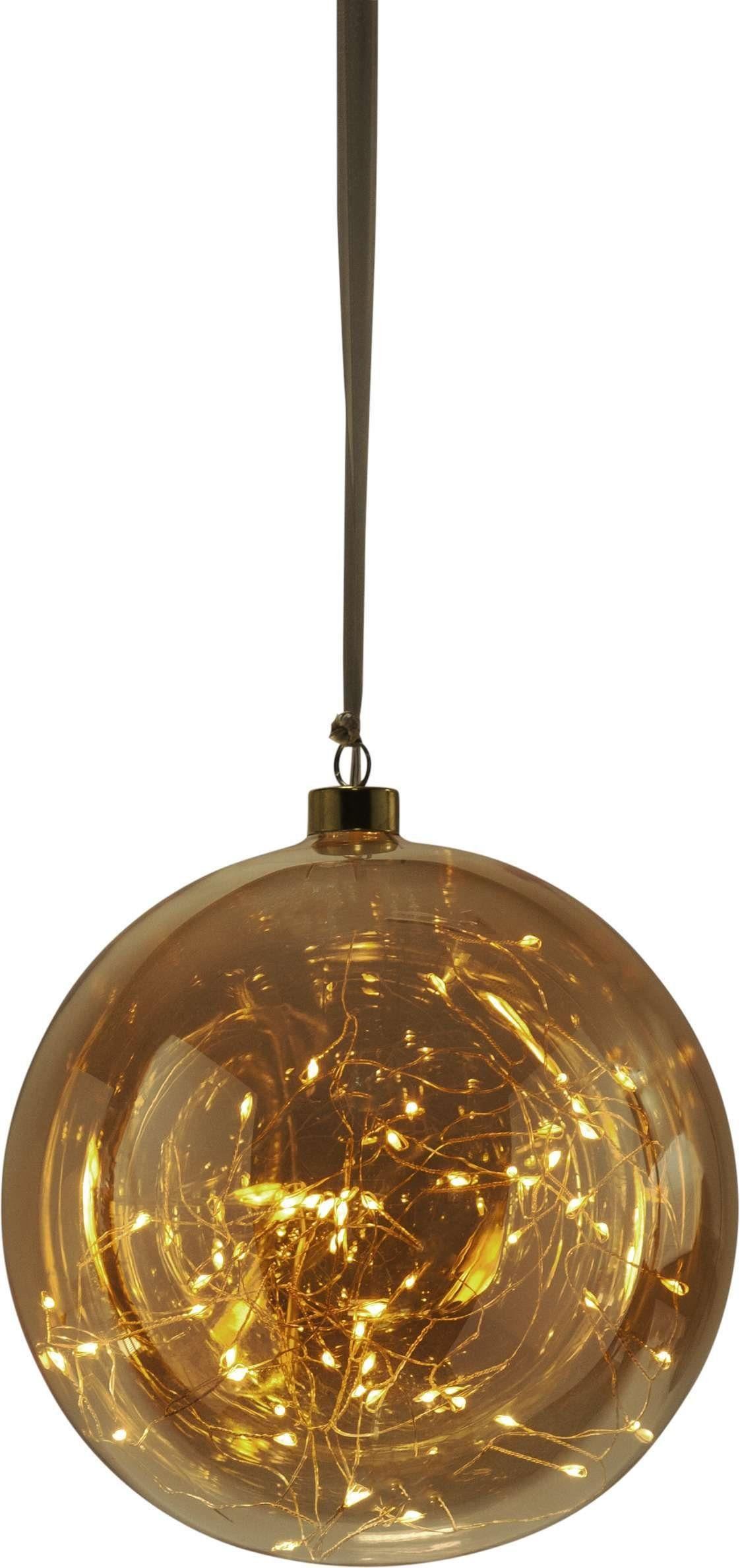 Star Glaskugel mit LED, zum Hängen »Glow«