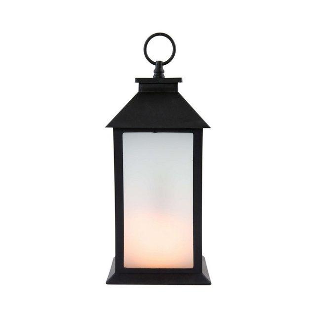 Star LED-Laterne mit Flammenimitation »LED-Laterne« | Lampen > Aussenlampen > Gartenleuchten | Schwarz | Star