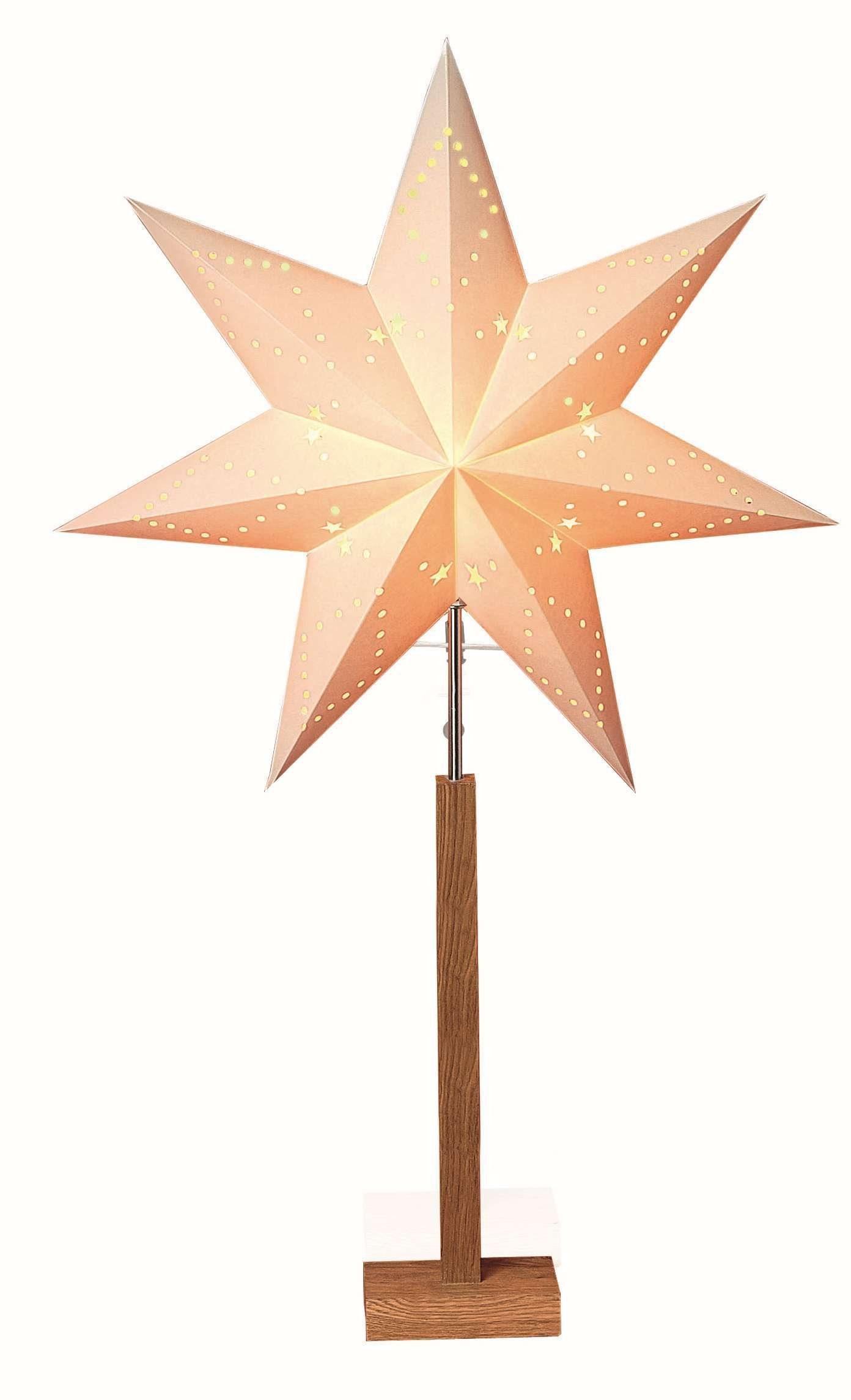 Star Standleuchte Sternform mit Holzfuß »Karo«