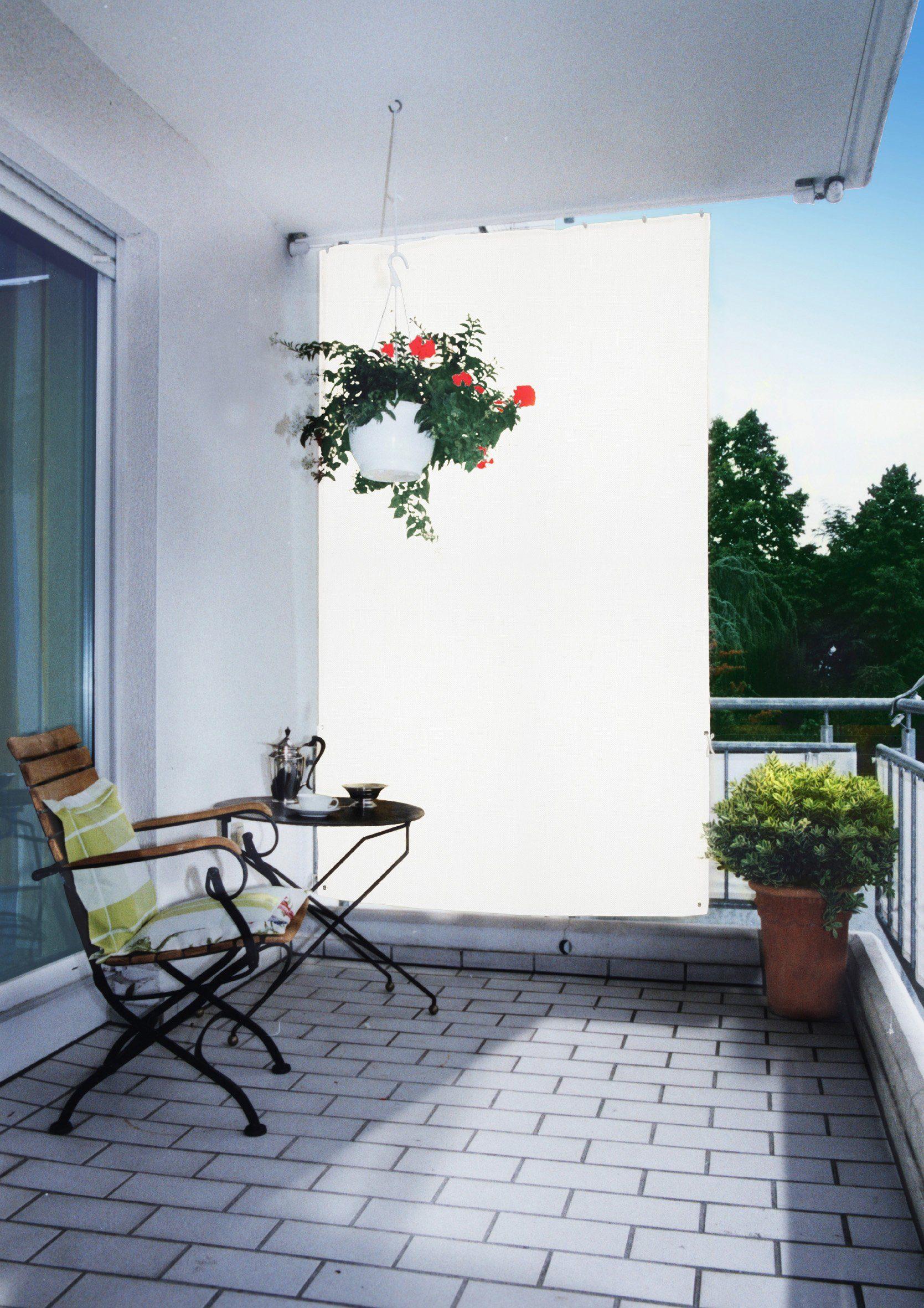FLORACORD Balkonsichtschutz , BxH: 140x230 cm, weiß