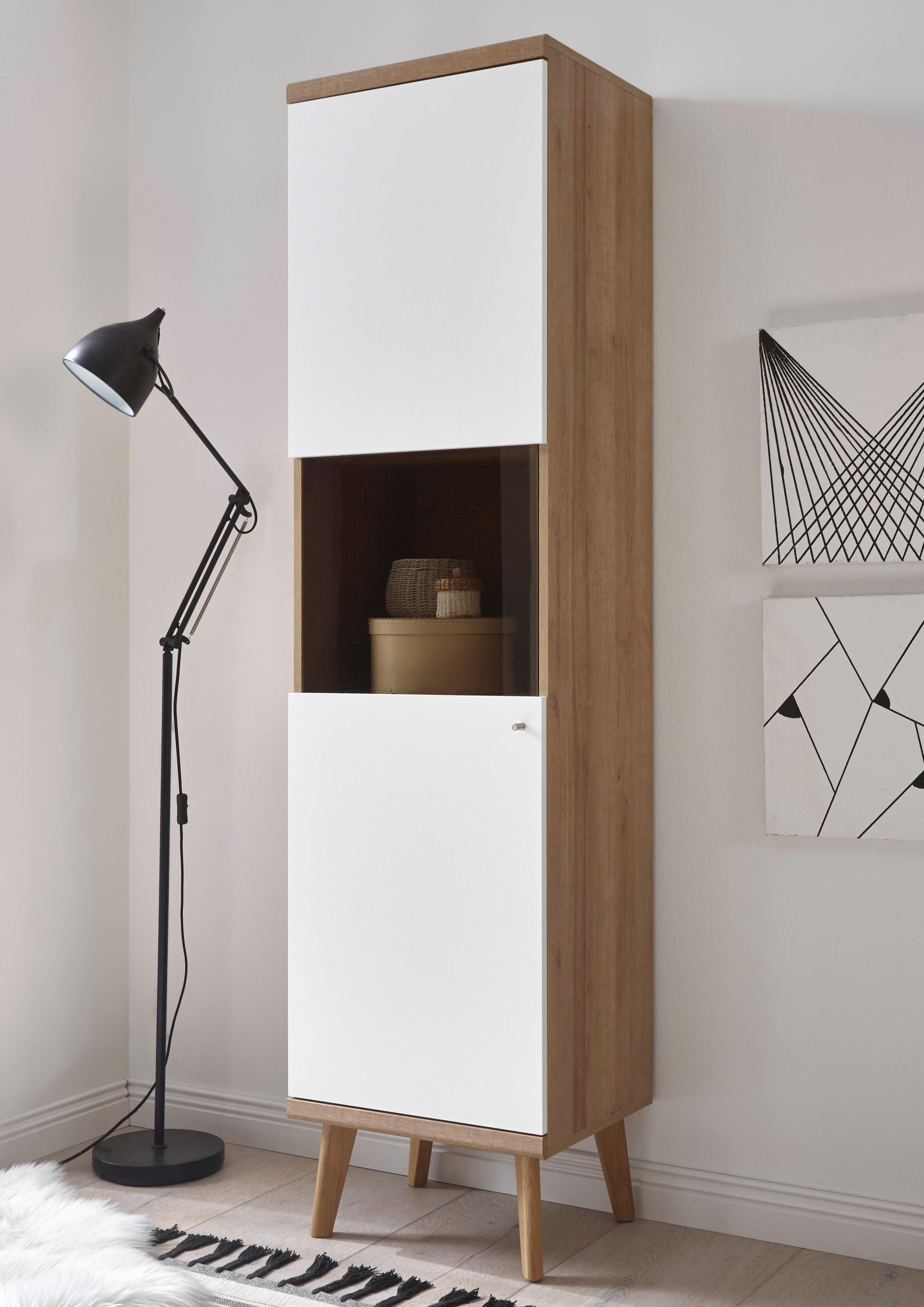 andas Vitrine »Merle« mit Glaseinsatz im skandinavischen Design, Höhe 197 cm