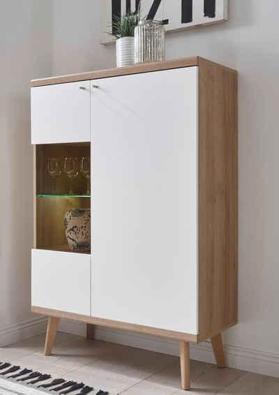andas Vitrine »Merle« im skandinavischen Design, Höhe 134 cm