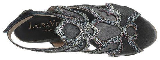 »ceclesteo« Metallic Laura muster Sandalette Feinem Mit Vita XfxxZTOq5