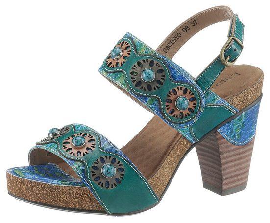 LAURA VITA »Dacisyo« High-Heel-Sandalette mit feinen Ziersteinchen