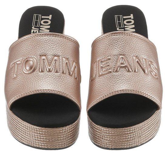 Mit »denia 7y« Pantolette Metallicschimmer Effektvollem Tommy Jeans x7q5II