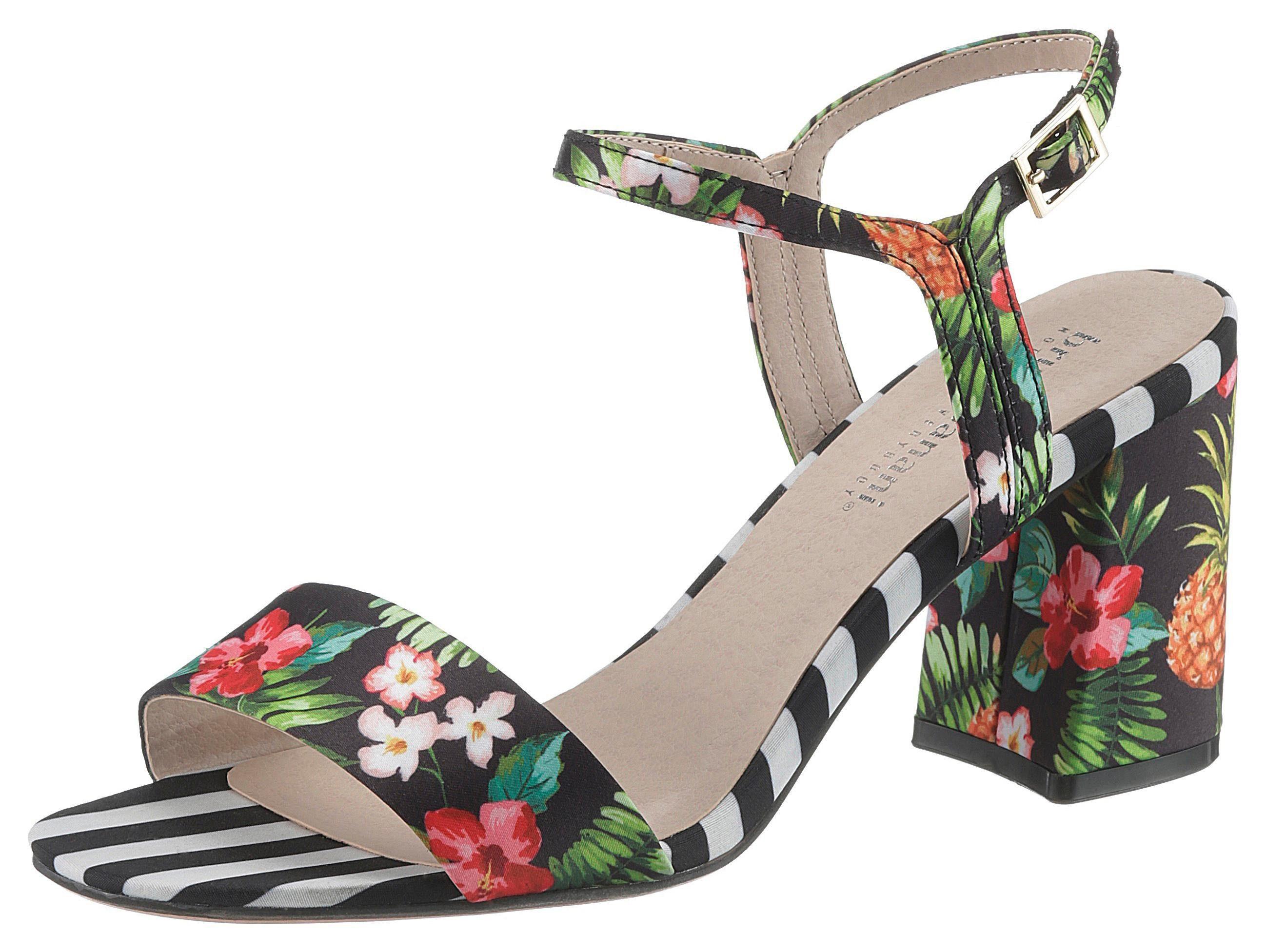 Bruno Banani Sandalette mit tropischen Blütenprint   OTTO