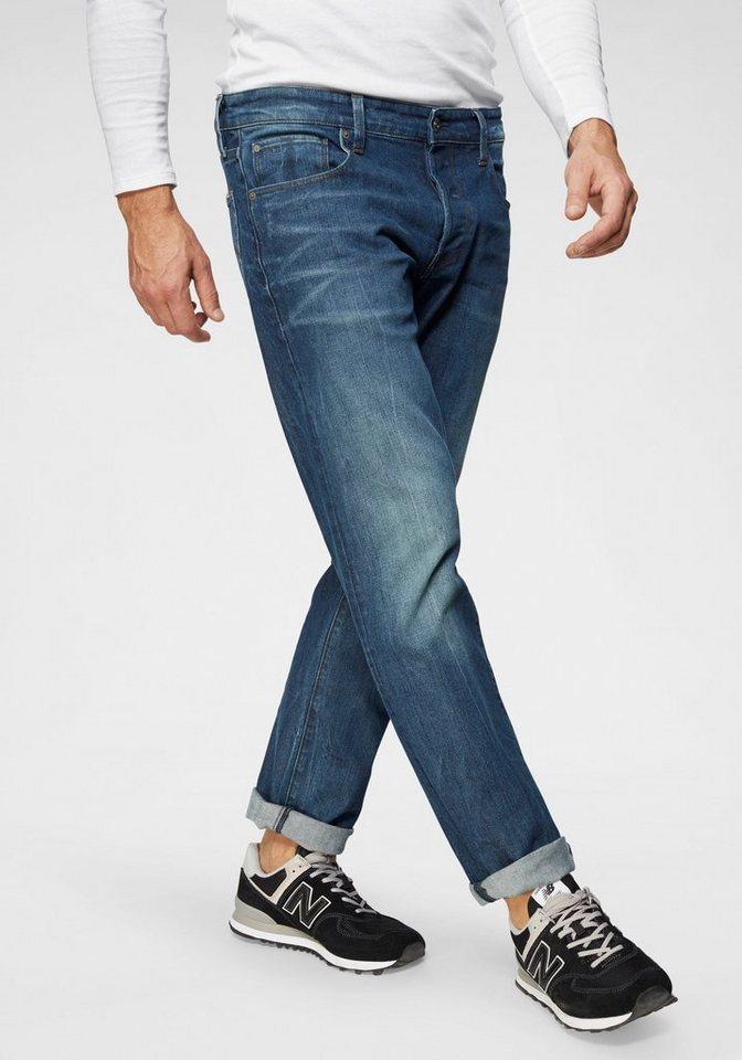 00871dad9929 G-Star RAW Straight-Jeans »3301 Straight«, Stylisch ausgewaschene Jeans mit  Knopfverschluss online kaufen   OTTO