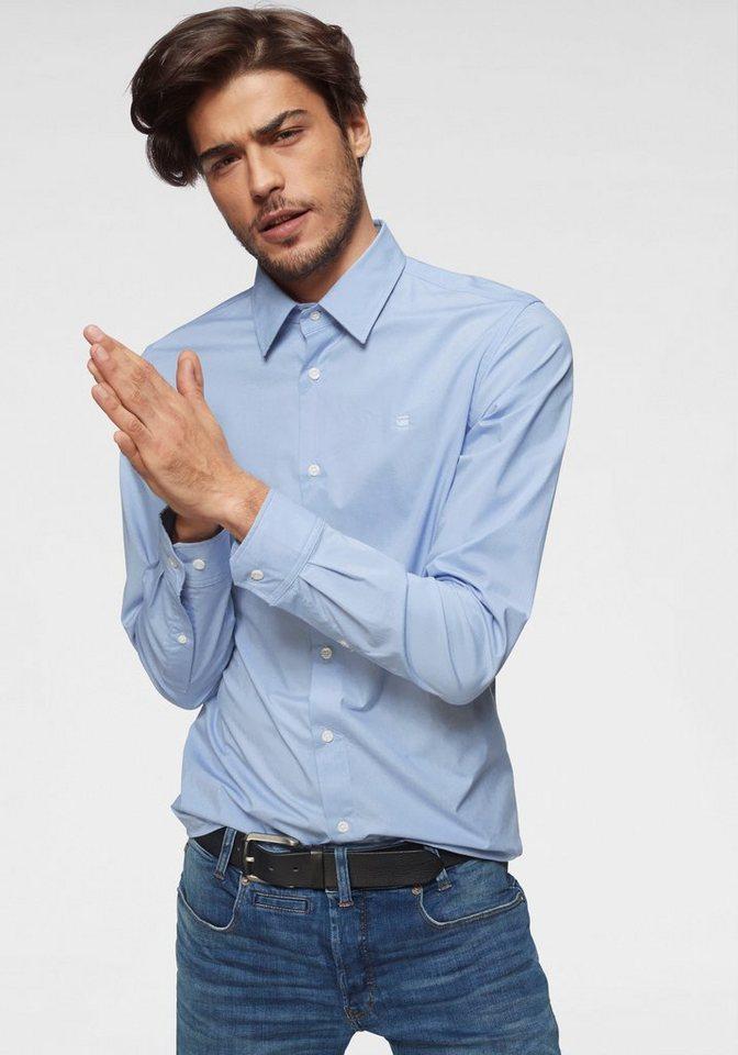 Herren G-Star RAW Langarmhemd Core Shirt l s blau | 08718597401644