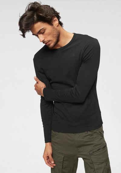 G-Star RAW Langarmshirt Basic-Artikel aus blickdichter, hochwertiger  Baumwollqualität caf54b8349