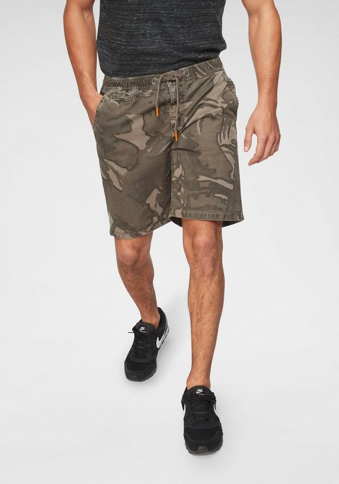 superdry shorts trendige shorts mit elastischem bund. Black Bedroom Furniture Sets. Home Design Ideas