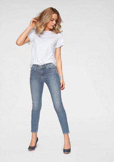 Pünktchen In Muster Desing jeans Jacquard Skinny Ankle Angesagtem Zip« »ankle Angels OC7zPwqR