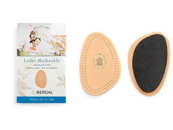 Bergal Einlegesohlen »Leder-Halbsohle«, Für einen besseren Halt im Schuh