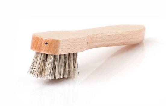 SHOEPASSION Schuhputzbürste »Rahmenbürste«, Aus feinem Rosshaar und Buchenholz