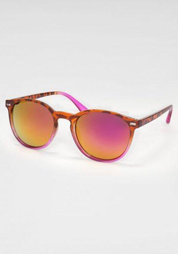 Sonnenbrille (1-St) mit Animal Print im Retro Style