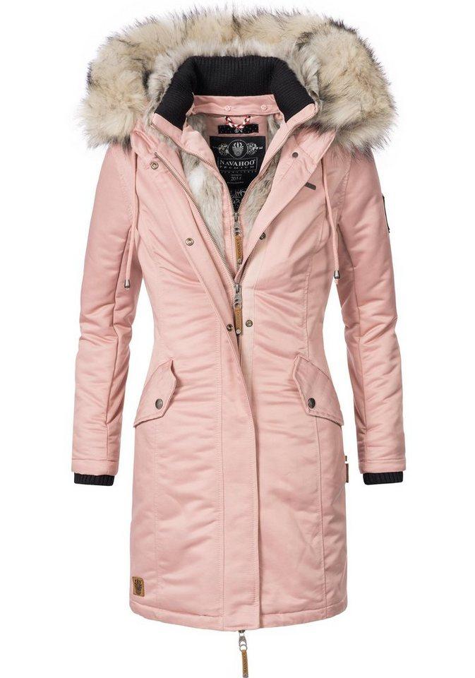 big sale 8e909 718a4 Navahoo Wintermantel »Daylight« stylische Damen Winterparka mit  Kunstfellkapuze online kaufen | OTTO