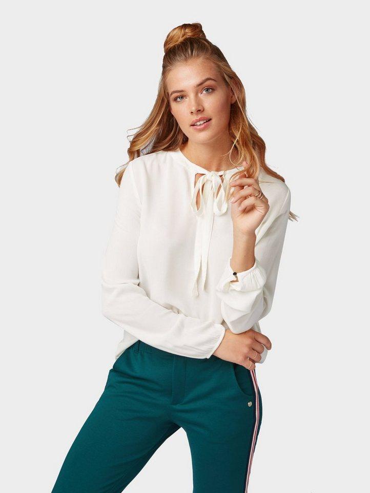 Damen Tom Tailor Denim  Shirtbluse Bluse mit Schleife weiß | 04060868916208