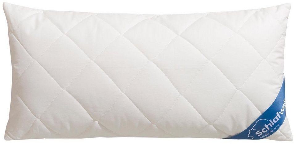 Naturfaserkopfkissen Tencel Kba Schlafwelt Fullung Faserballchen Bezug Baumwollgewebe Aus Bio Baumwolle 1 Tlg Bezug Mit Tencel