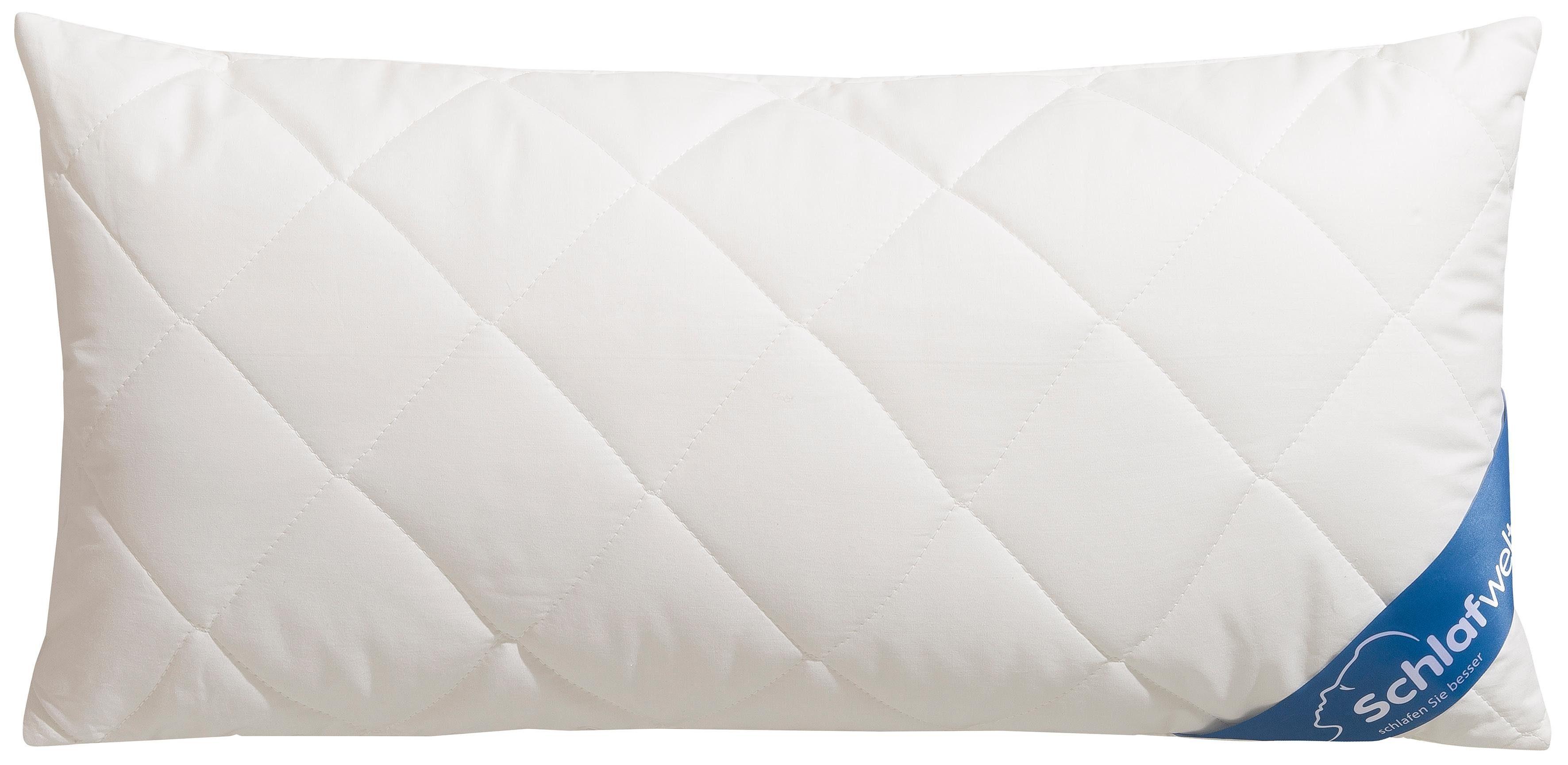 Naturfaserkopfkissen, »Tencel KbA«, Schlafwelt, Füllung: Faserbällchen, Bezug: Baumwollgewebe aus Bio-Baumwolle, (1-tlg), Bezug mit Tencel versteppt