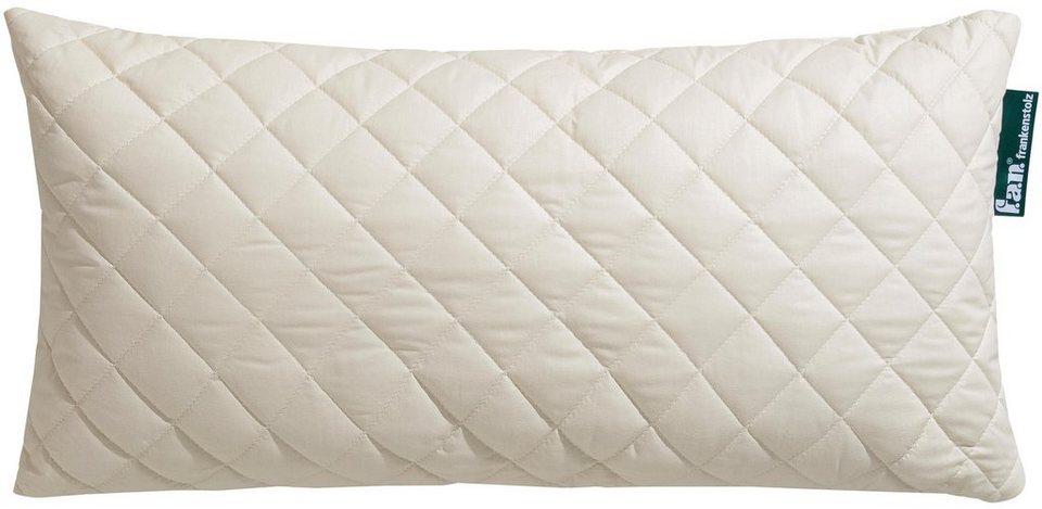 Naturfaserkissen Wolle Anti Milbe F A N Frankenstolz Fullung 97 Wolle 3 Sonstige Fasern Bezug 100 Baumwolle 1 Tlg Reizfreier