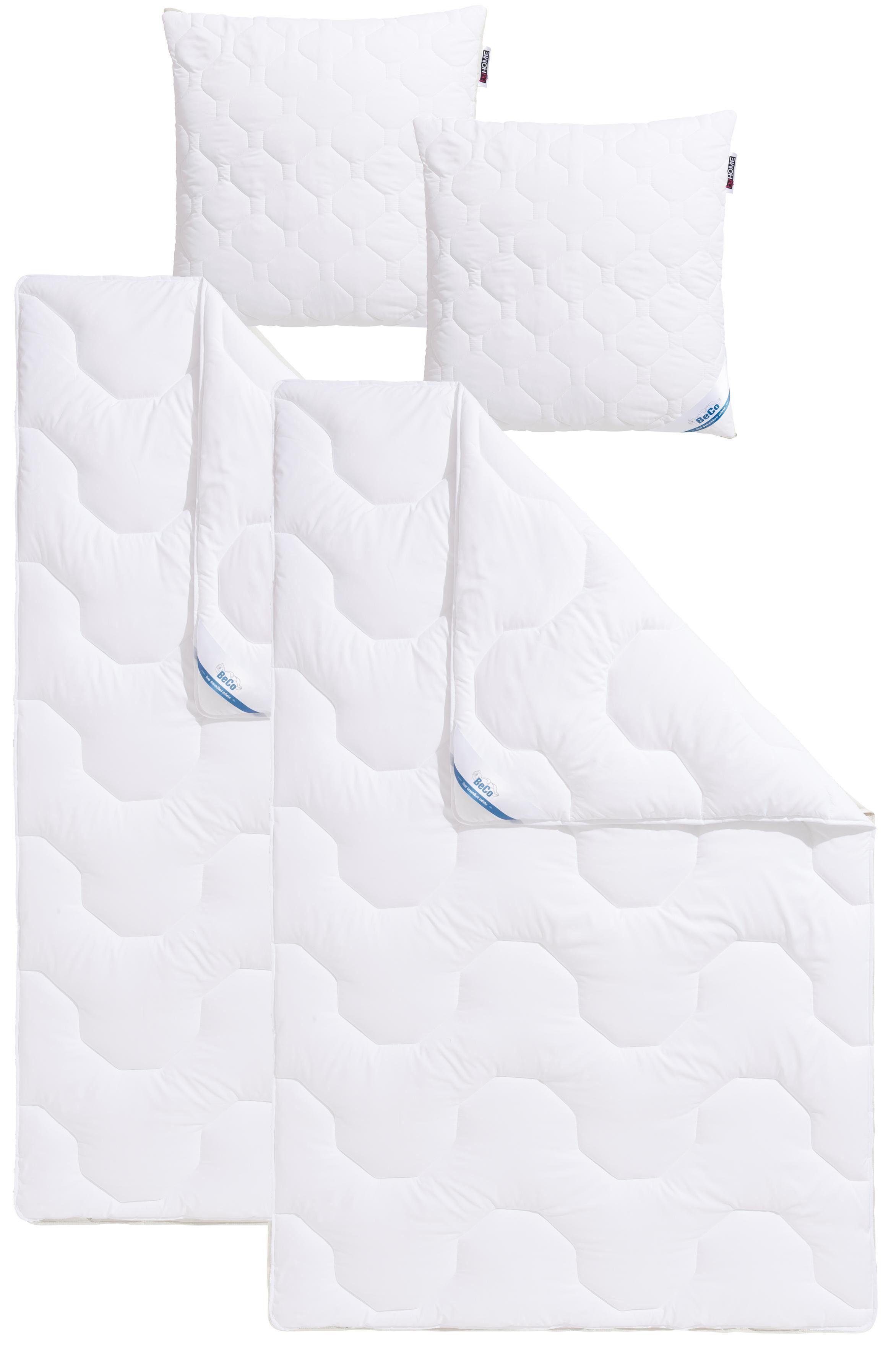 Set: Kunstfaserbettdecken + Kopfkissen, »Antibac«, BeCo, Normal - antibakteriell, Füllung: 100% Polyester, Bezug: 100% Polyester, kochfest 95°