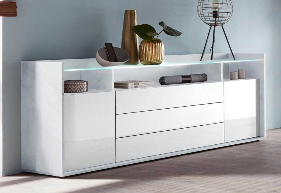 borchardt m bel sideboard livorno breite 200 cm 2 t ren online kaufen otto. Black Bedroom Furniture Sets. Home Design Ideas