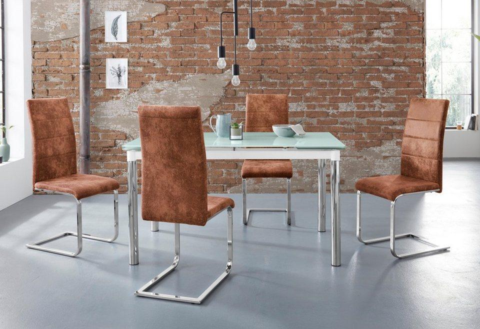 Essgruppe Nelson Cosy Mit 4 Stühlen Tisch Ausziehbar