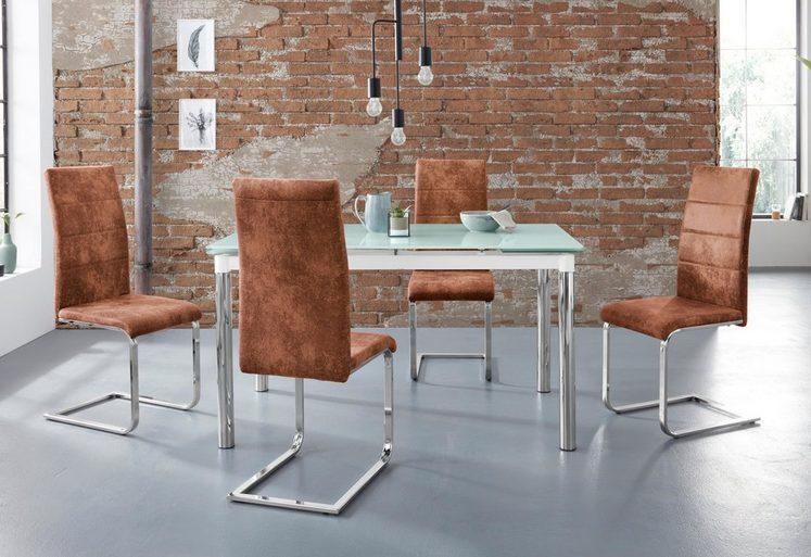 Essgruppe »Nelson/Cosy«, (Set, 5 tlg), mit 4 Stühlen, Tisch ausziehbar, Breite 140-200 cm