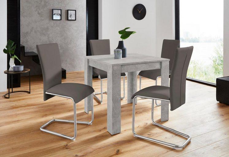 Homexperts Essgruppe Nick1 Mulan Mit 4 Stühlen Tisch In