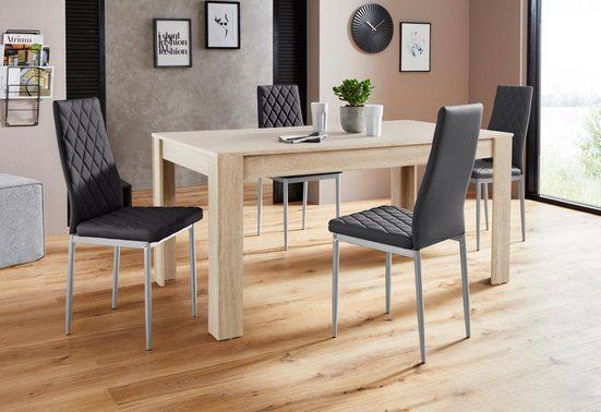 Essgruppe »Lynn160/Brooke«, (Set, 5-tlg), Tisch mit 4 Stühlen