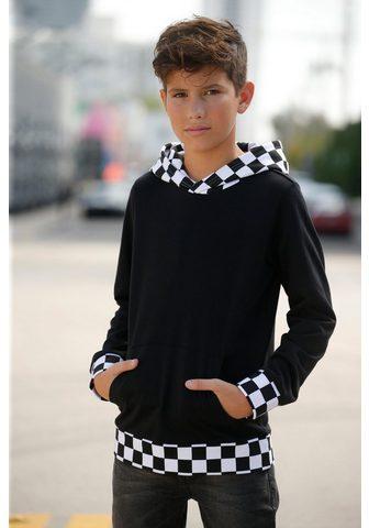 BUFFALO Sportinis megztinis su gobtuvu