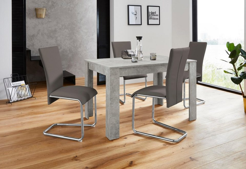 Homexperts Essgruppe Nick2 Mulan Mit 4 Stühlen Tisch In