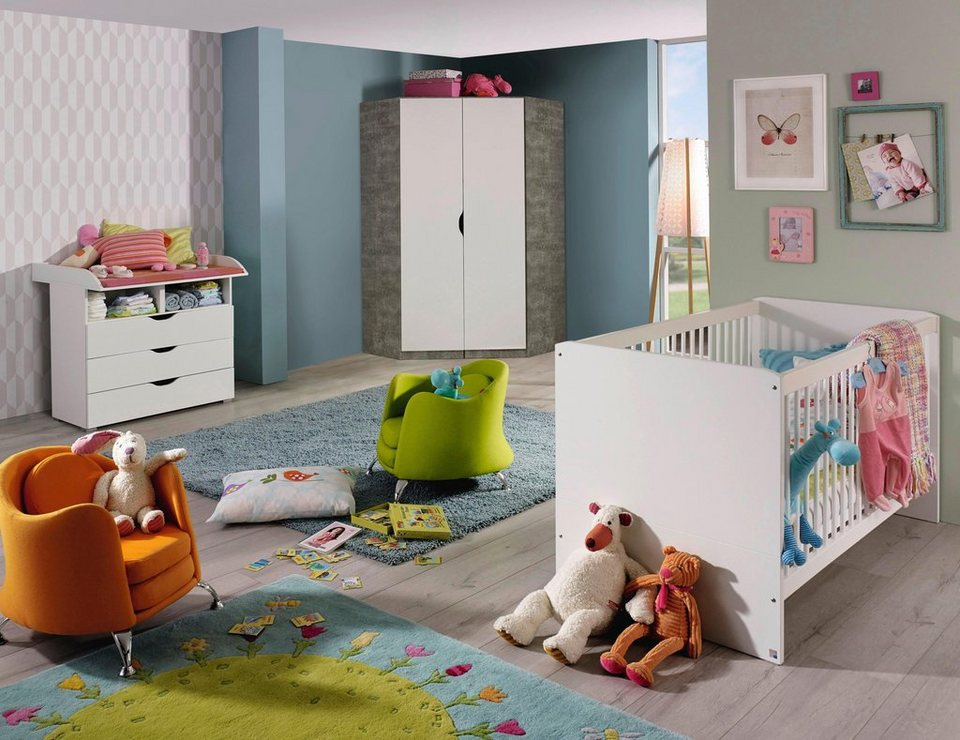 babyzimmer spar set bristol babybett wickelkommode 2. Black Bedroom Furniture Sets. Home Design Ideas