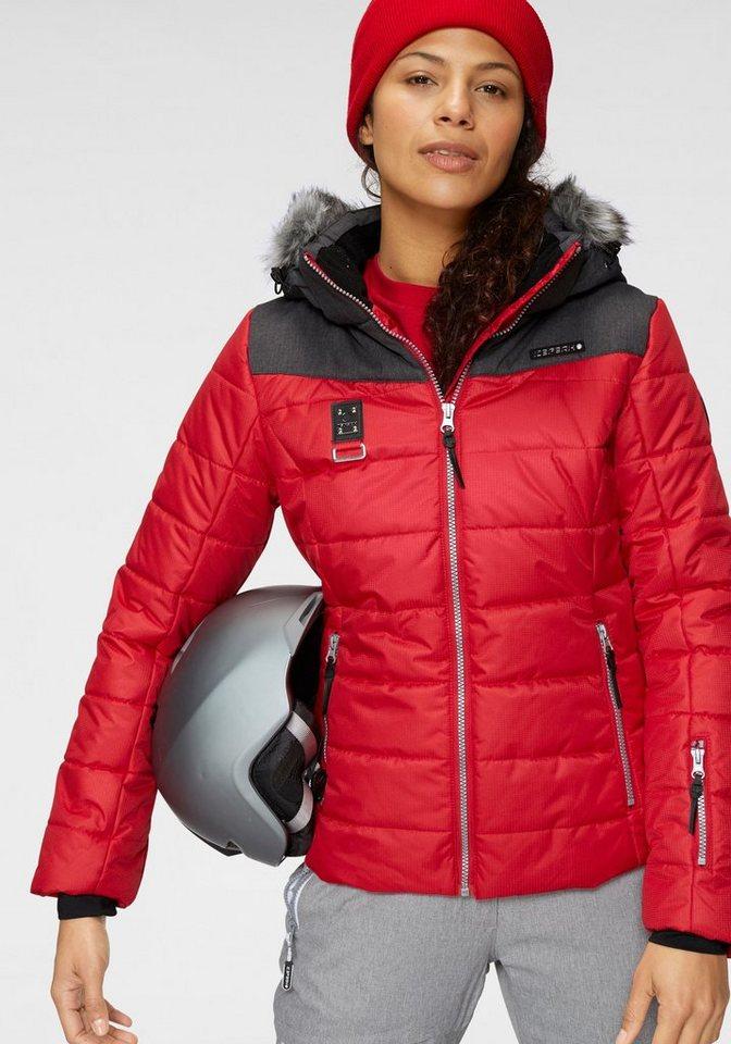 Damen Icepeak Skijacke PRIDIE 2000 mm Wassersäule rot | 06413680169891