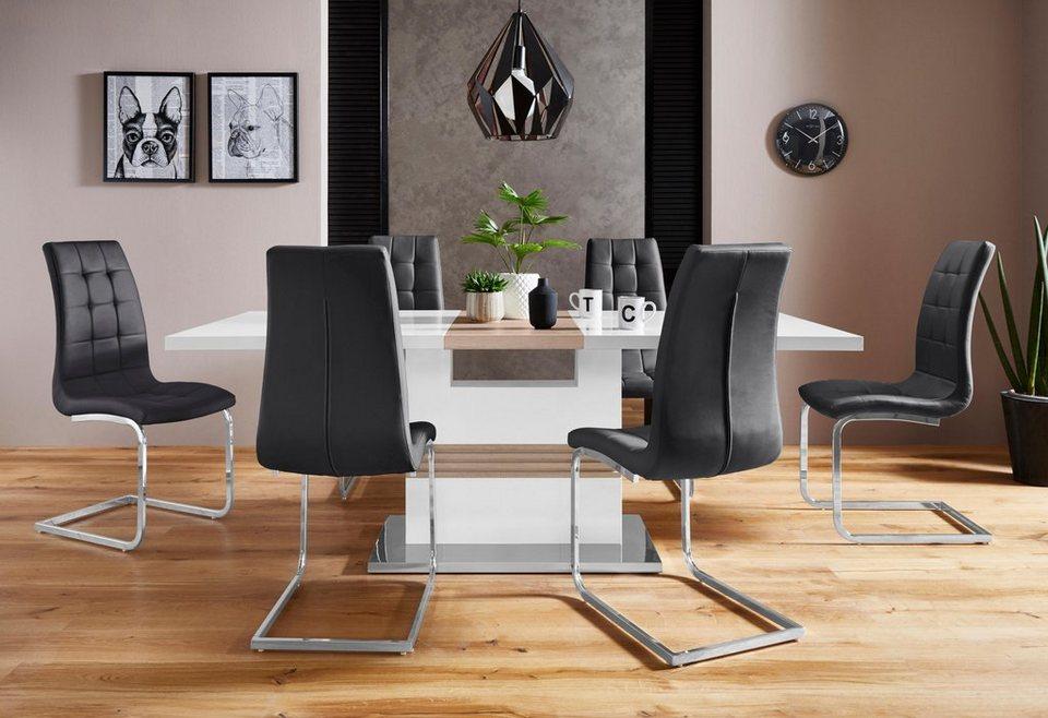 Essgruppe Perez Lola Mit 4 Stühlen Tisch Ausziehbar