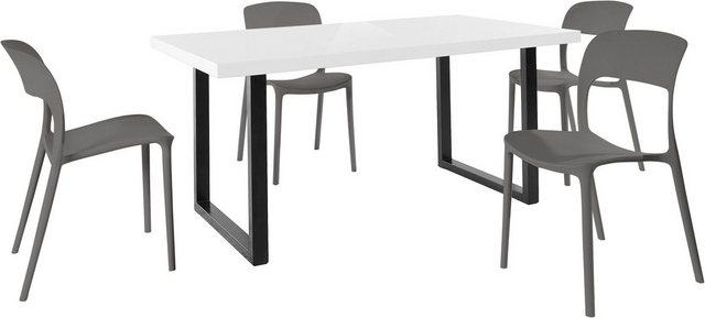 Essgruppen - Paroli Essgruppe »Manger Florian 180«, (Set, 5 tlg), mit 4 Stühlen, Tisch Breite 180 cm  - Onlineshop OTTO