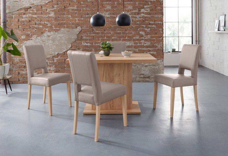 Essgruppe Murano Set 5 Tlg Tisch Mit 4 Stühlen