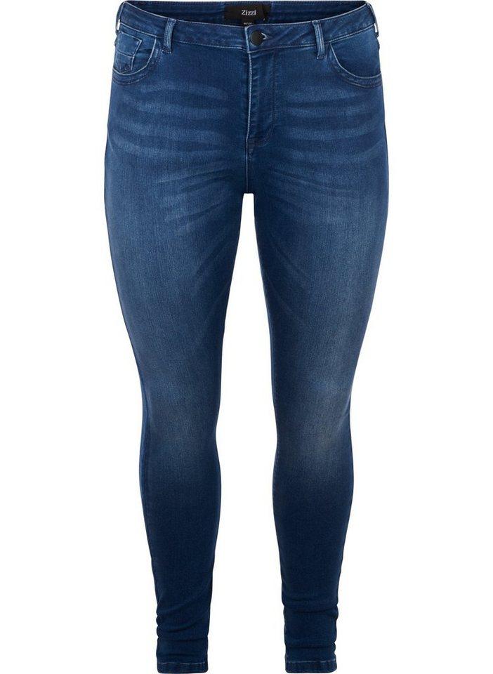 Zizzi Slim-fit-Jeans Damen Große Größen Amy Jeans Super ...