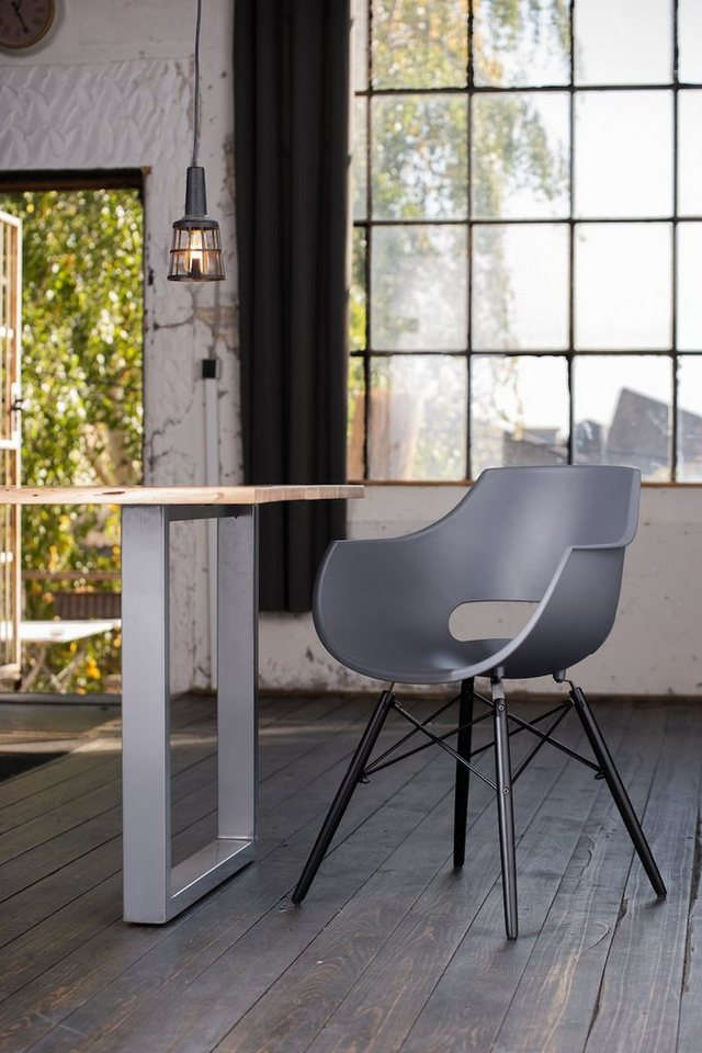 KAWOLA Esszimmerstuhl Stuhl Kunststoff ZAJA grau | 04250385969188