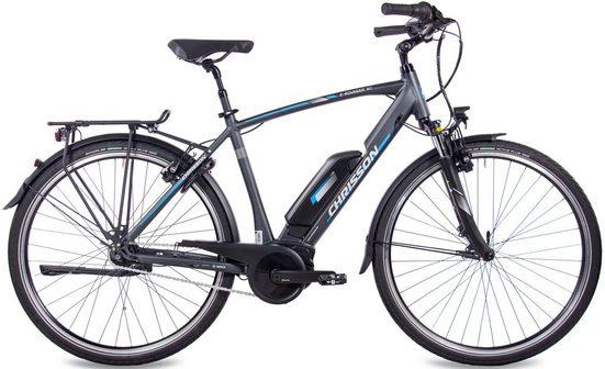 Chrisson E-Bike »E-ROUNDER Herren«, 7 Gang Shimano Nexus SG-C3000-7 Schaltwerk, Nabenschaltung, Mittelmotor 250 W