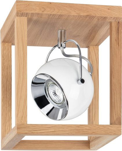 SPOT Light LED Deckenleuchte »ROY«, Inklusive LED-Leuchtmittel, Naturprodukt aus Eichenholz, Nachhaltig mit FSC®-Zertifikat, Made in EU
