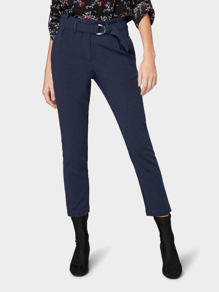 Tom Tailor 7/8-Hose »Hose im Loose Fit« | Bekleidung > Hosen > 7/8-Hosen | Blau | Polyester - Viskose | Tom Tailor