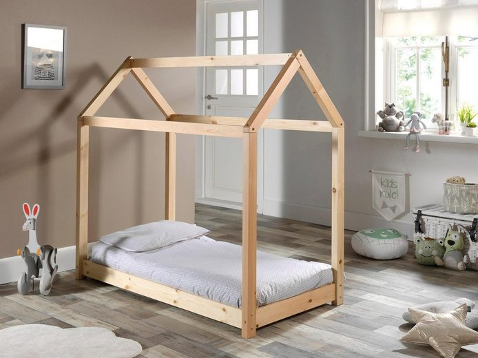 Vipack Bett »Cabane« in Haus-Optik